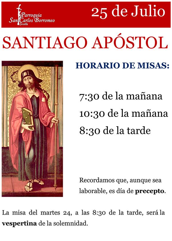 25 de agosto, Solemnidad del Apóstol Santiago